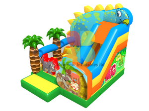 Dinosaur inflatable Animal slide bouncy House
