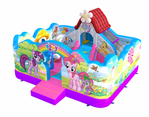 commercial inflatable Little Pony theme park bouncy castle for kids