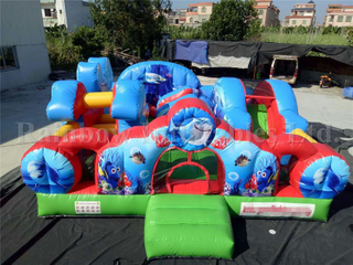 Commercial Inflatable Aquarium Theme Jumping Funcity Playground